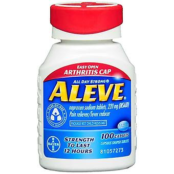 Aleve pain reliever fever reducer easy open cap, caplets, 100 ea