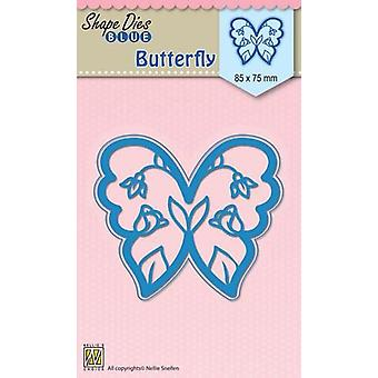Nellie's Choice Shape Die Blue Butterfly SDB012 85x75mm