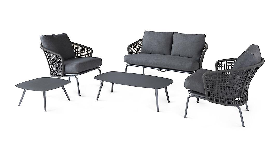 Beach7 | Lattice 5-delige loungeset |  Wit | loungesets