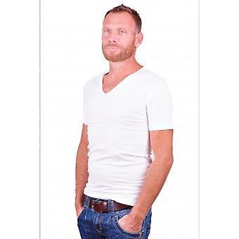 Alan Rot T-Shirt No-V weiß (zwei Stück)