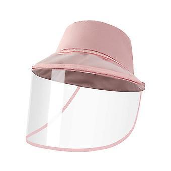 YANGFAN المضادة للعاب الشمس قبعة إزالة واقية واقية الوجه درع