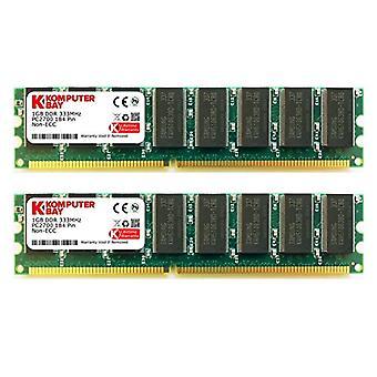 Komputerbay 2GB (2x 1GB) DDR DIMM (184 PIN) 333Mhz PC2700 DDR333 MEMORIA سطح المكتب