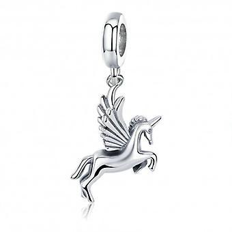 Zilveren Hangende Bedel Eenhoorn - 5642