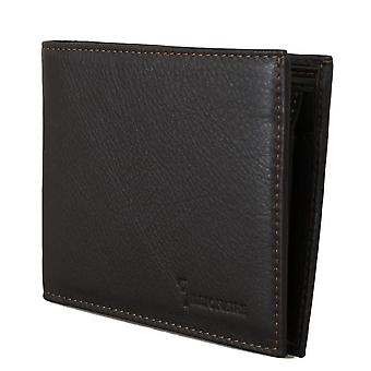 Brown leather-bifold wallet