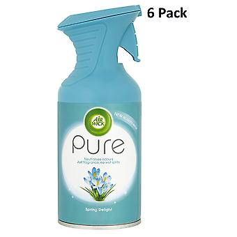 6 X 250Ml Air Wick Pure Air Freshner Spray - Spring Delight