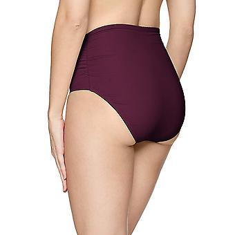 Anne Cole Women's High Waist to Fold Over Shirred Bikini Bottom Swimsuit, Aub...