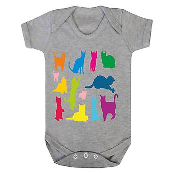 Reality glitch just colourful cats kids babygrow