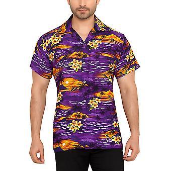 Club cubana men's regular fit classic short sleeve casual shirt ccc107