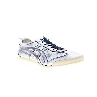 Onitsuka Tiger Mexico 66 Deluxe Mens Silver Gray Leather Low Top Sneakers Shoes