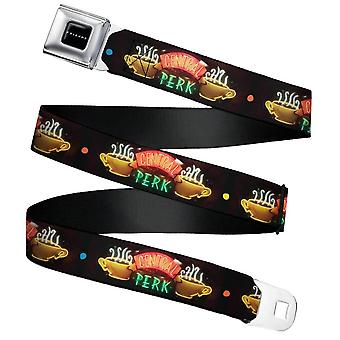 Friends Central Perk Neon Sign Webbing Seatbelt Buckle Belt