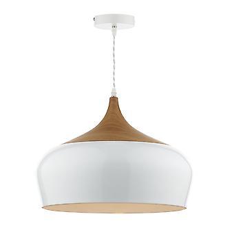 Dar d'éclairage Gaucho grand pendentif en blanc brillant