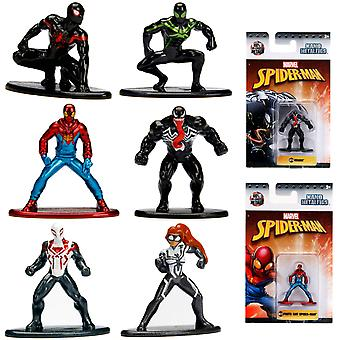 6pcs Spider-Man Spider-Man Nano Metalfigs collects characters Wave 2