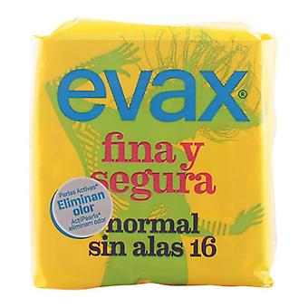 Normale sanitære puder uden vinger Fina & Segura Evax (16 uds)