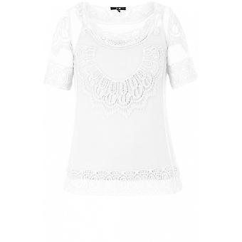 Yest White Crocheted Lace Top