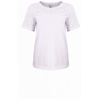 Sandwich Clothing Off White Lace Detailed Top