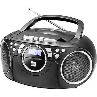 Dual P 70 Radio CD-speler FM AUX, CD, Tape Black
