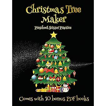 Preschool Scissor Practice (Christmas Tree Maker) - This book can be u