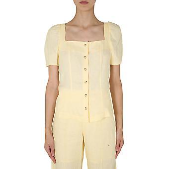 Baum Und Pferdgarten 20985c3540 Women's Yellow Linen Top