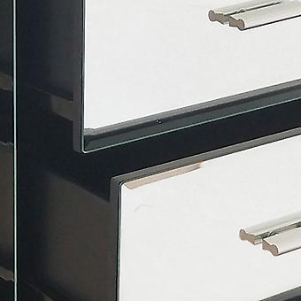 Charles Bentley Spiegelglas Möbel 5 Schublade Tallboy Brust Schrank Schlafzimmer