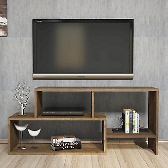 Mobile Tv Port Clover Color Walnut en Chip Melaminic, PVC 121.8x29.5x53.8 cm