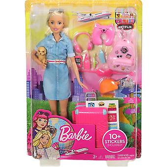 Barbie Travel Doll Set