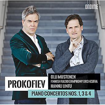 Prokofiev / Olli Mustonen / Finnish Radio - Prokofiev: Piano Concertos 1; 3 & 4 [CD] USA import