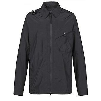 MA.STRUM Black Collared Overshirt