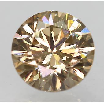 Cert 0.73 Carat Int Brown VVS2 Round Brilliant Natural Loose Diamond 5.69mm 3EX