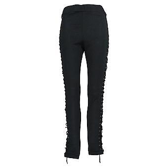 K Jordan Leggings Side-Laced Knit Leggings Regular Black