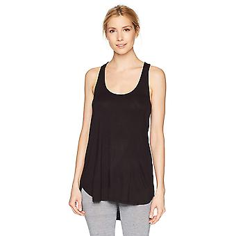 Mae Women's Loungewear Racerback Tank Top, Black, Medium