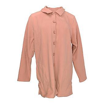 Denim & Co. Women's Top Essentials Long Sleeve Fleece Pink A283542