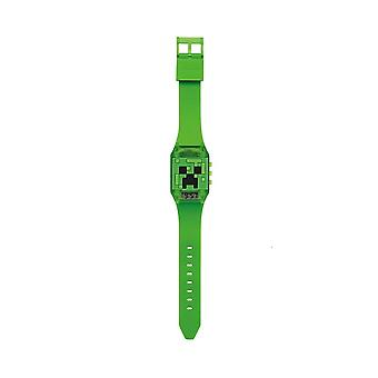 Children's Minecraft Creeper Flashing Digital Watch