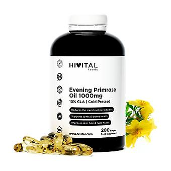 Evening Primrose Oil 1000 mg with 10% GLA and Vitamin E 200 softgels