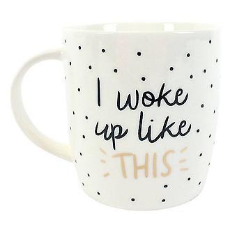 Something Different I Woke Up Like This Ceramic Boxed Mug