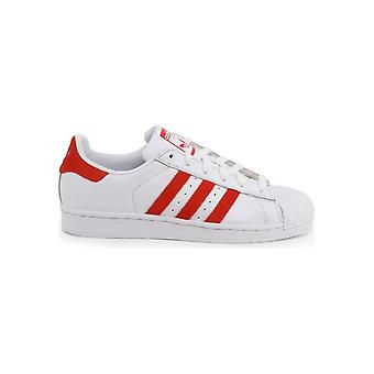 Adidas - Shoes - Sneakers - EF9237_Superstar - Unisex - white,red - UK 3.5