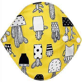 Χαριτωμένο snap σχεδιασμός επαναχρησιμοποιήσιμα μπαμπού ύφασμα washable εμμηνορροϊκό panty pad - μαμά