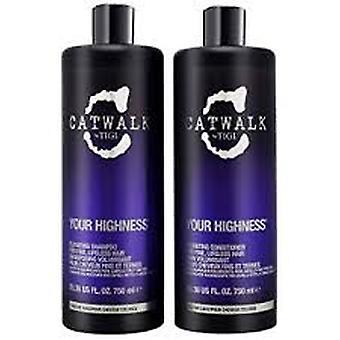 Tigi Catwalk Your Highness Duo Pack 750ml Szampon + 750ml Odżywka