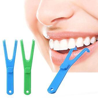 Dental Floss Y Shape Handle Interdental Teeth Cleaning Stick Tools Aid Oral Hygiene Toothpicks Cleaner