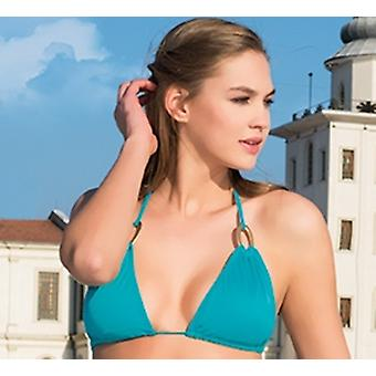 Aqua Perla Womens Tropical Multicolor Bikini Top
