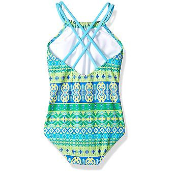 Kanu Surf Big Girls' Jasmine Beach Sport Halter One Piece Swimsuit, Mahina Gr...
