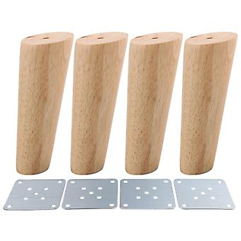 4pcs Wood Furniture Foot Leg Feet 15cm
