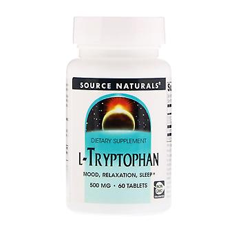 Source Naturals, L-Tryptophan, 500 mg, 60 Tablets