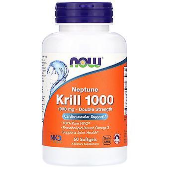 Nu Foods, Neptune Krill 1000, Dubbele Sterkte, 1.000 mg, 60 Softgels