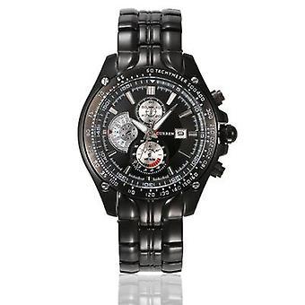 Fashion men's kalender waterdicht horloge