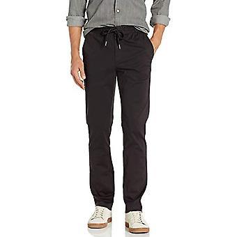 "Brand - Goodthreads Men's Slim-Fit Washed Chino Drawstring Pant, Black XX-Large/32"" Inseam"