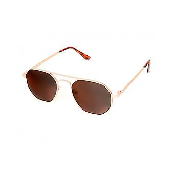 نظارات شمسية للجنسين البني / الذهب (PZ20-077)