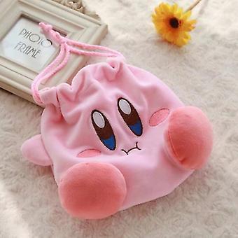 Kirby Plush Drawstring Tasca Drawstring Bag - Peluche Coin Bag Purse Plush Giocattoli Giocattoli Regalo