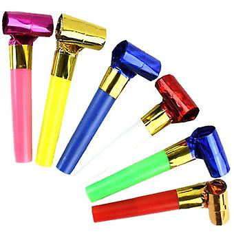 10 Pcs/set Party Toys Funny  Whistles For Kids -birthday Party Toys For Children (10pcs Random Color)