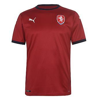 Puma Mens Czech Republic Home Shirt 2020 Football Crew Neck Short Sleeve dryCELL