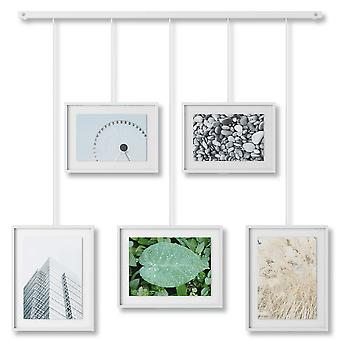 Umbra Exhibit Wall Picture Frames Set Of 5 White
